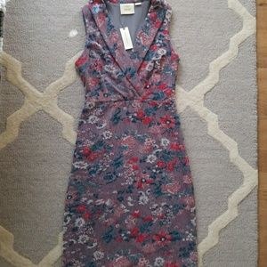 Maeve Anthropologie Jacquard Sleeveless Midi dress
